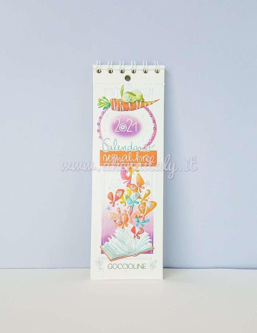 Calendario Segnalibro Goccioline 2021 Farfalle dentro a un libro - copertina