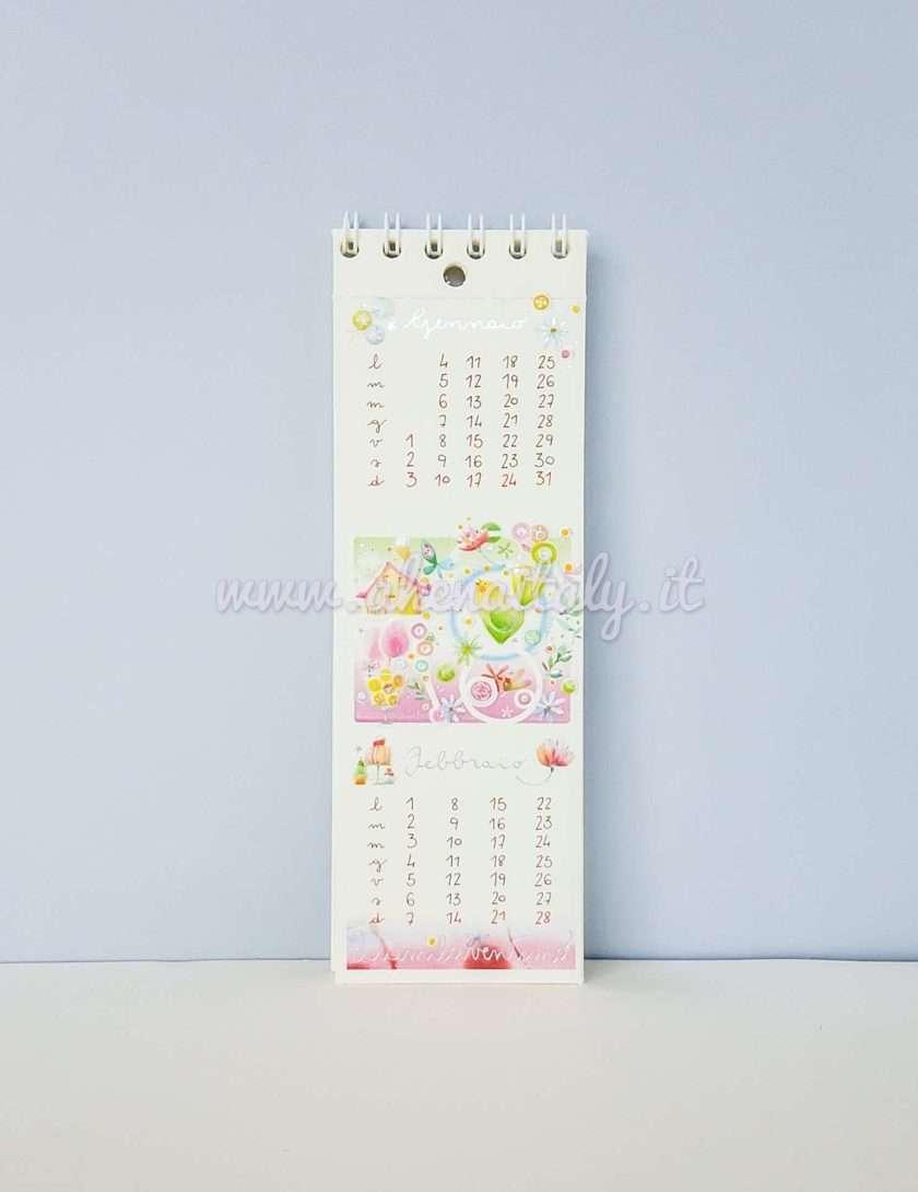 Calendario Segnalibro Goccioline 2021 - Gennaio e Febbraio 2021