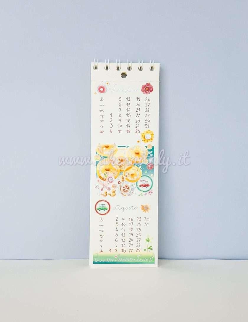 Calendario Segnalibro Goccioline 2021 - Luglio e Agosto 2021