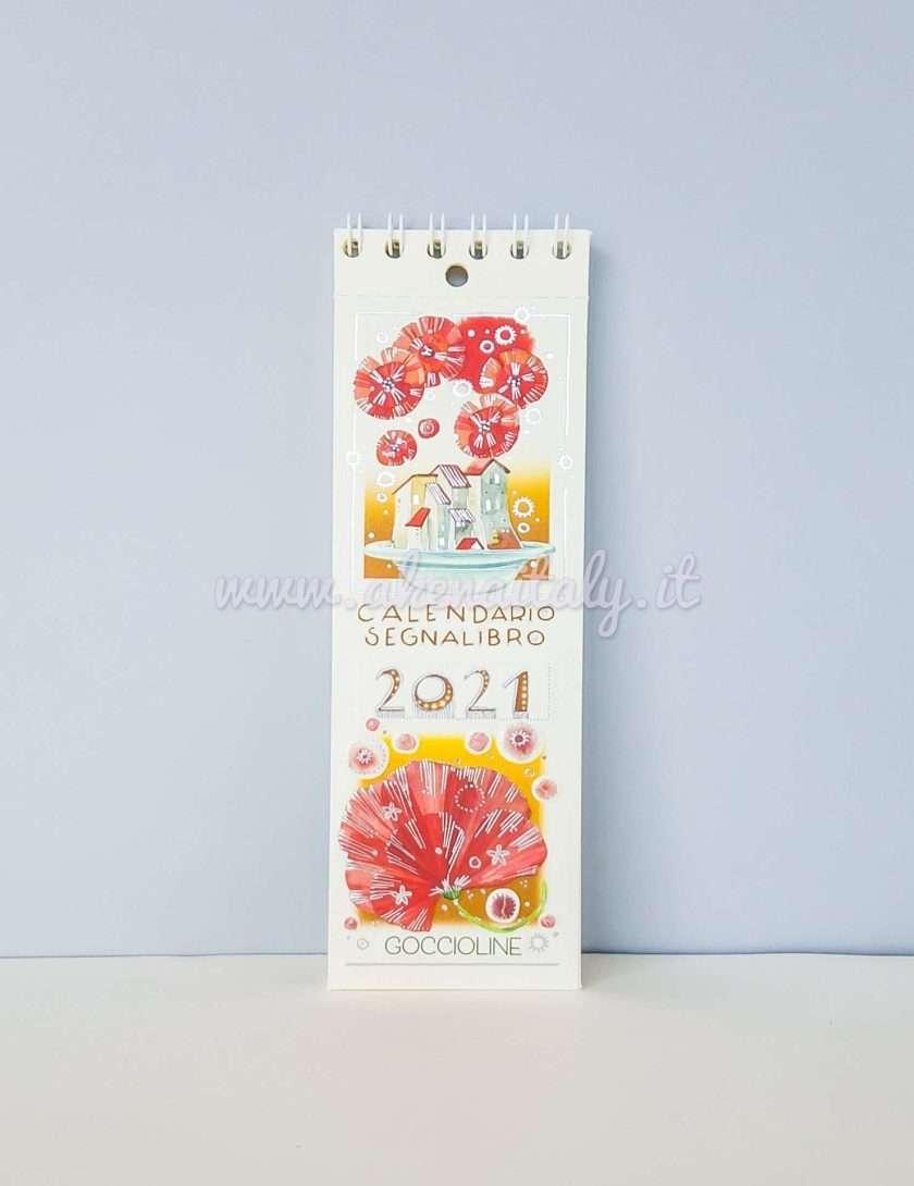 Calendario Segnalibro Goccioline 2021 Papaveri - copertina