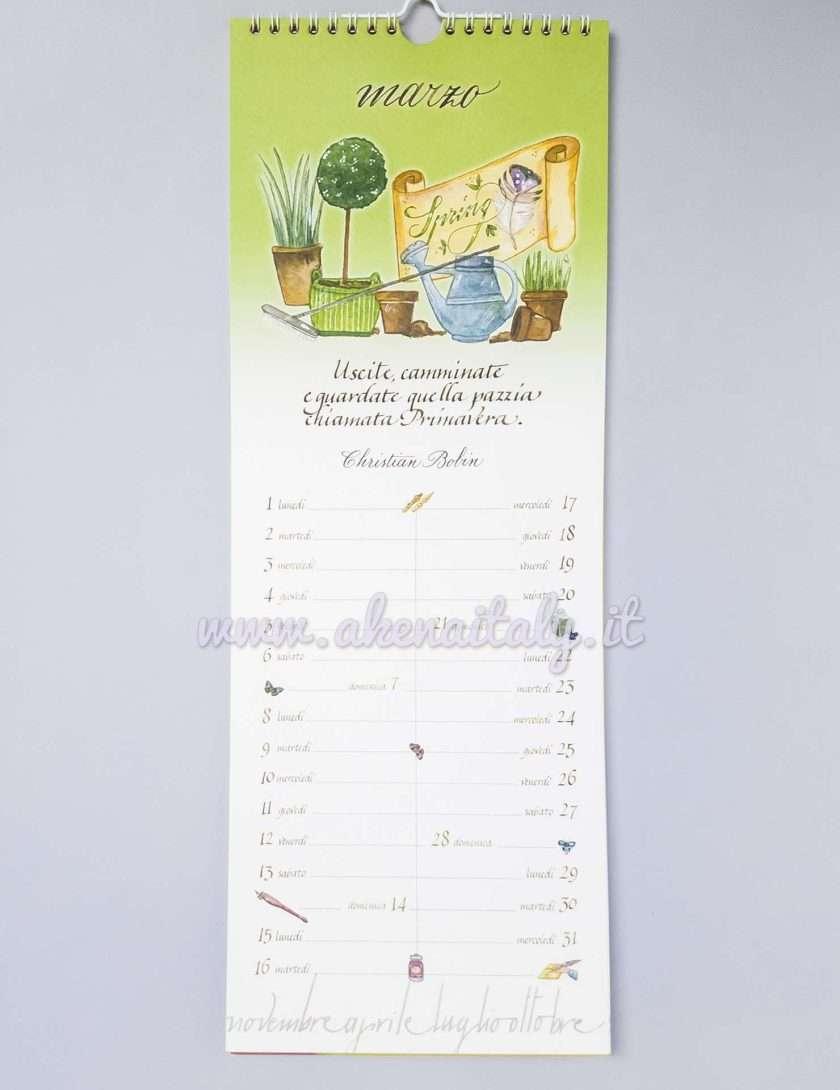 Calendario da parete Setteparole 2021 - Marzo