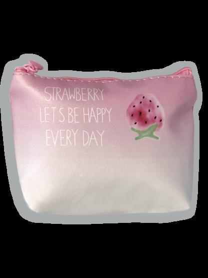 Trousse porta mascherina in tessuto chiusura con cerniera - Sfondo rosa sfumato