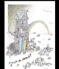 Puzzle Fabbrica dell'arcobaleno 540 pezzi Le Formiche di Fabio Vettori - Akena