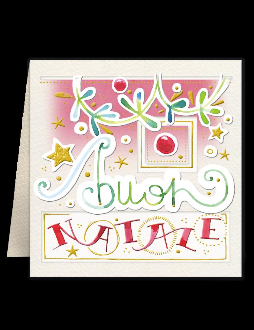 Mini biglietto di Natale Goccioline per abbellire i regali