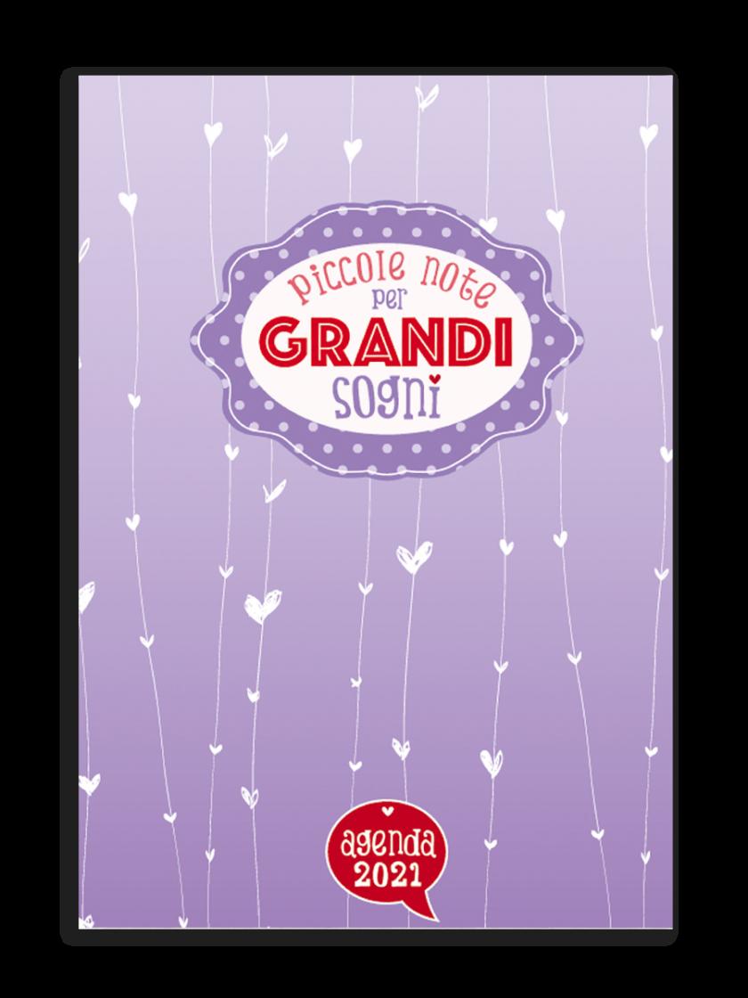 Agenda mensile A4 copertina metallizzata Piccole note per grandi sogni