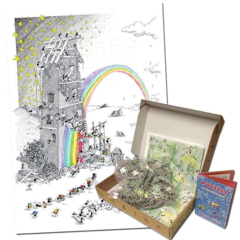Puzzle Fabbrica dell'arcobaleno Le Formiche di Fabio Vettori - Akena