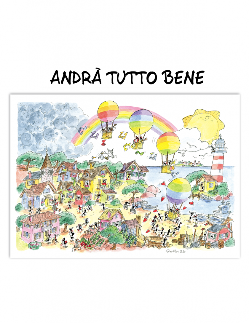 Puzzle Andrà tutto bene con Le Formiche di Fabio Vettori - 1080 pezzi