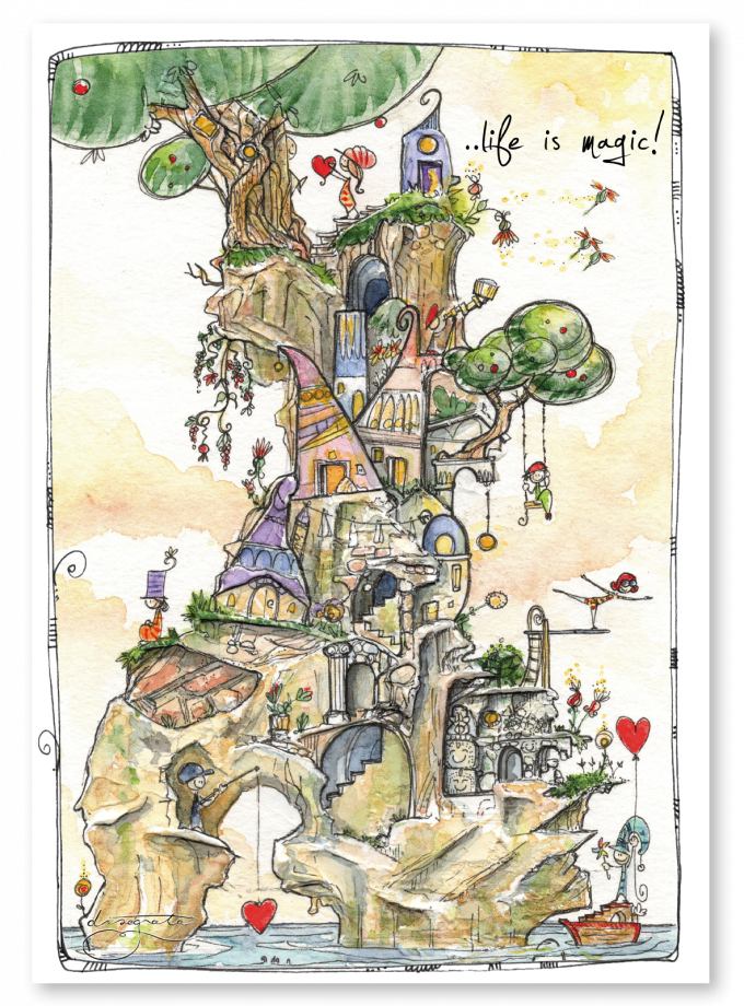 Puzzle Disegnata - Life is Magic 1080 pezzi