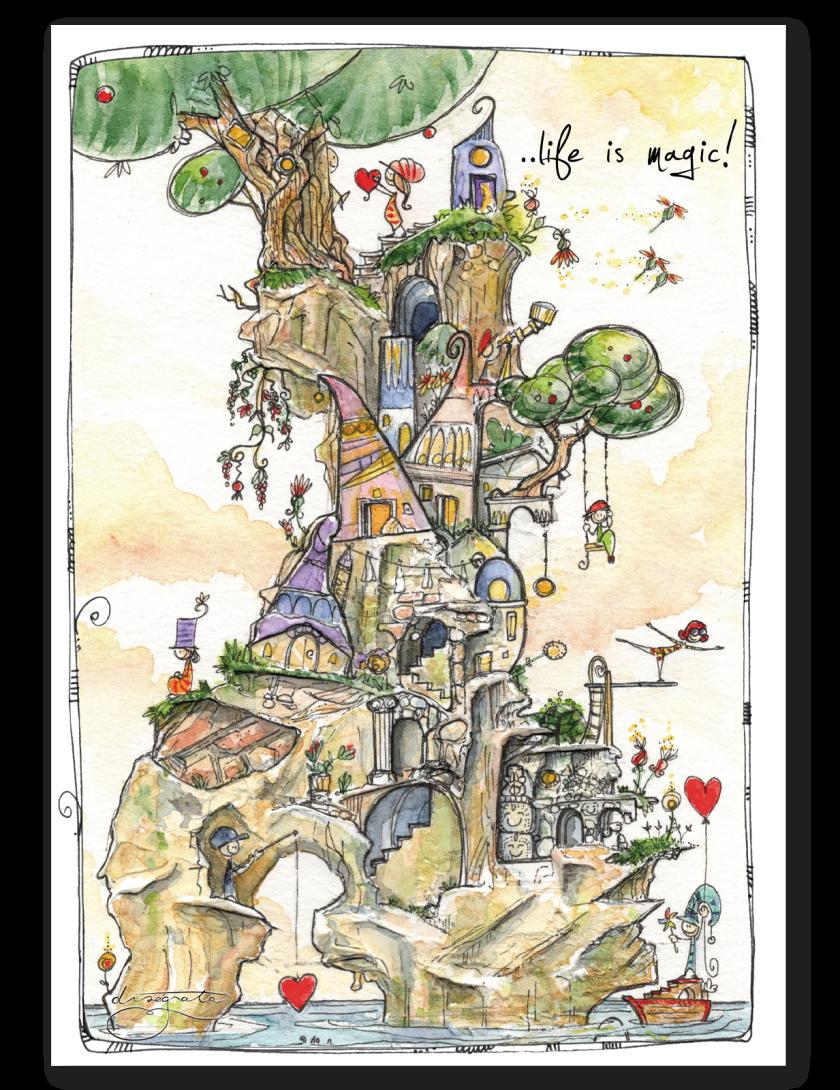 Puzzle Disegnata - Life is Magic 1080 pezzi
