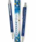 Penna a sfera blu Goccioline