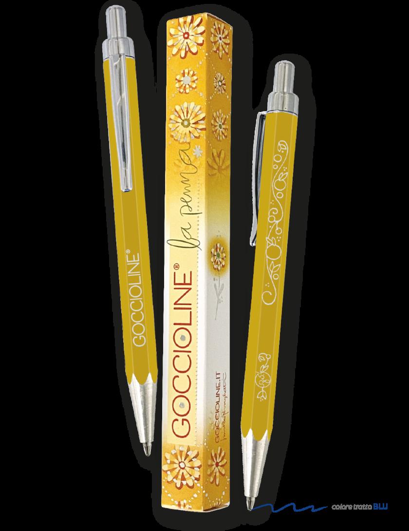 Penna a sfera gialla Goccioline