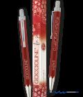 Penna a sfera rossa Goccioline