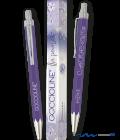 Penna a sfera viola Goccioline