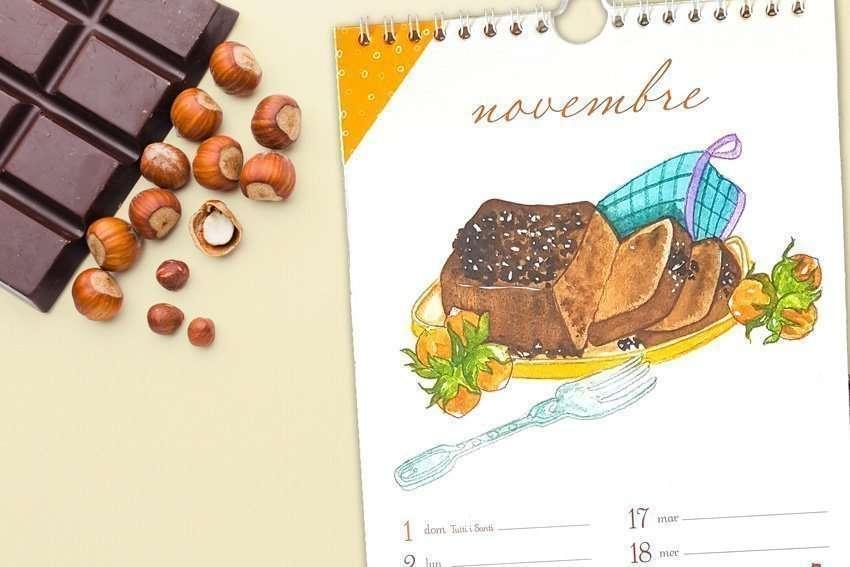 Illustrazione ricetta Tortino al cioccolato senza cottura - Calendario Acquolina novembre 2020 - Akena