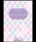 Agenda mensile A4 copertina metallizzata Rendi felice ogni piccolo momento