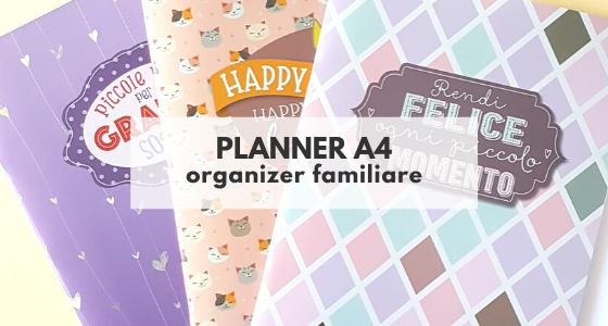 Planner A4: organizer per la famiglia o l'ufficio