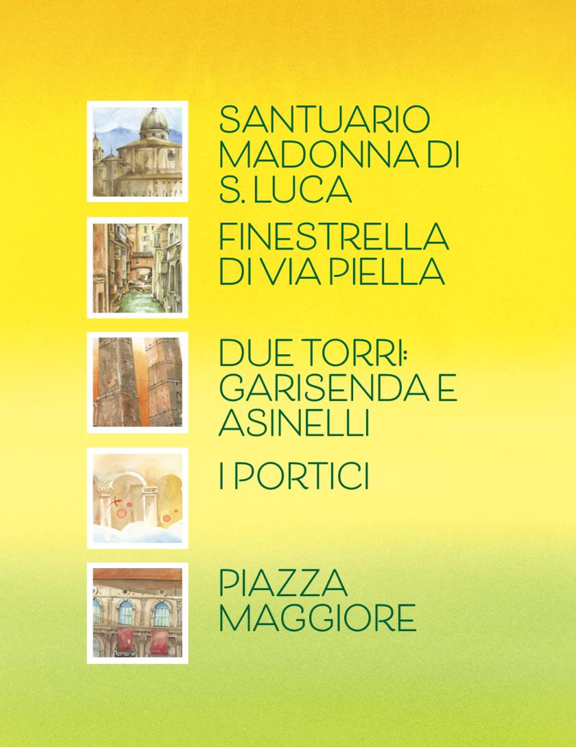 Puzzle Bologna Goccioline 1080 pezzi 50x70 cm - Dettagli della città di Bologna