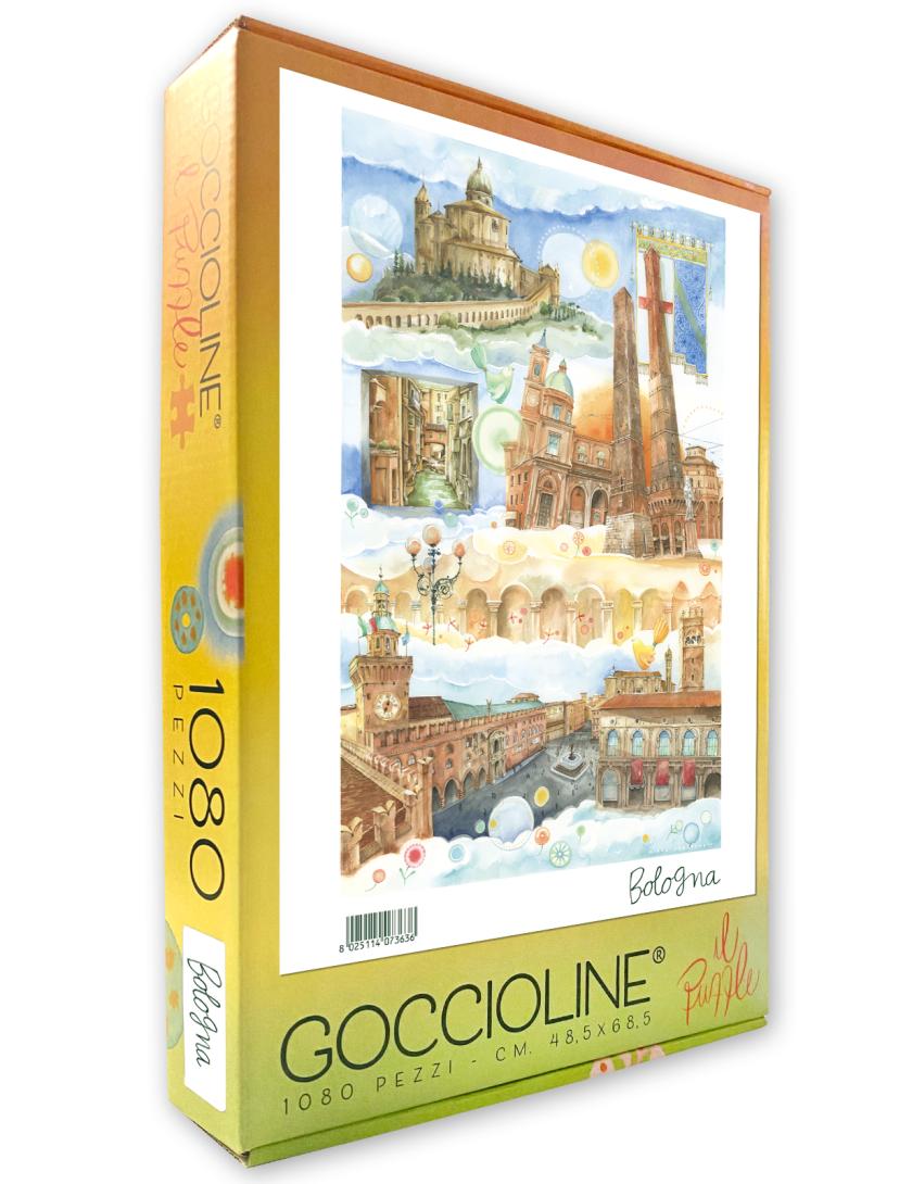 Puzzle Bologna Goccioline 1080 pezzi 50x70 cm - Dettagli città di Bologna