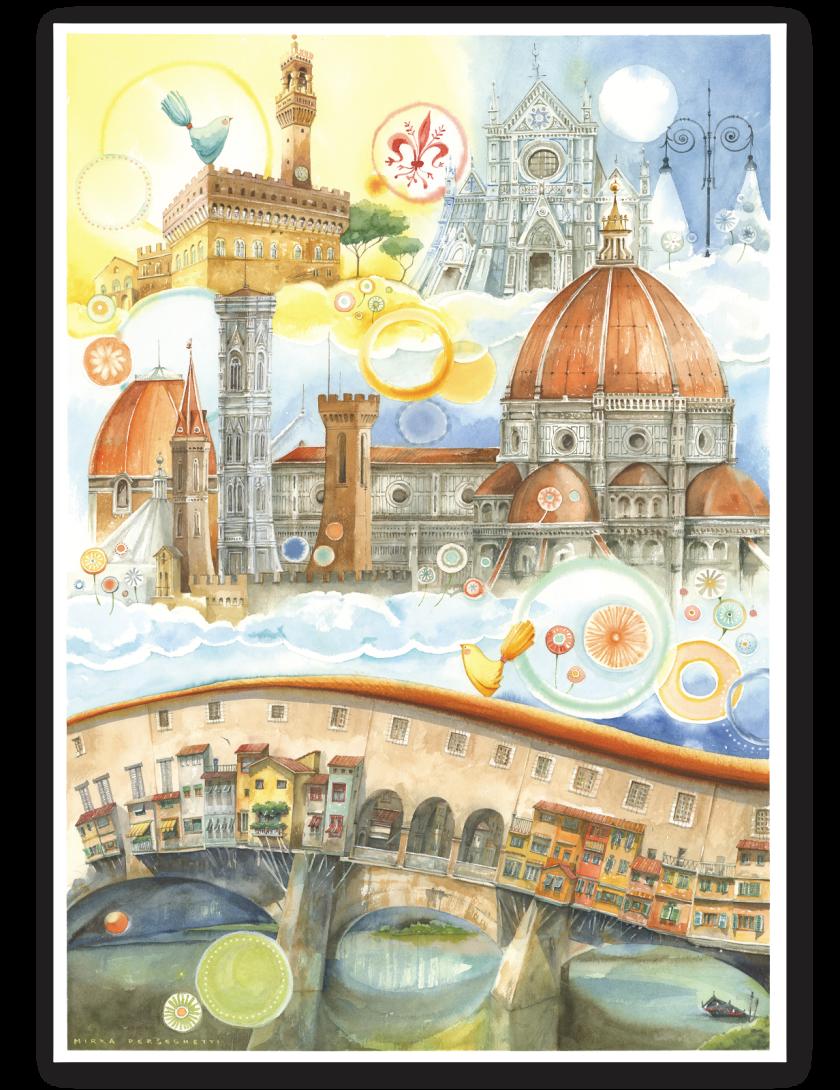 Puzzle Firenze Goccioline 1080 pezzi 50x70 cm - Dettaglio del Puzzle di Firenze