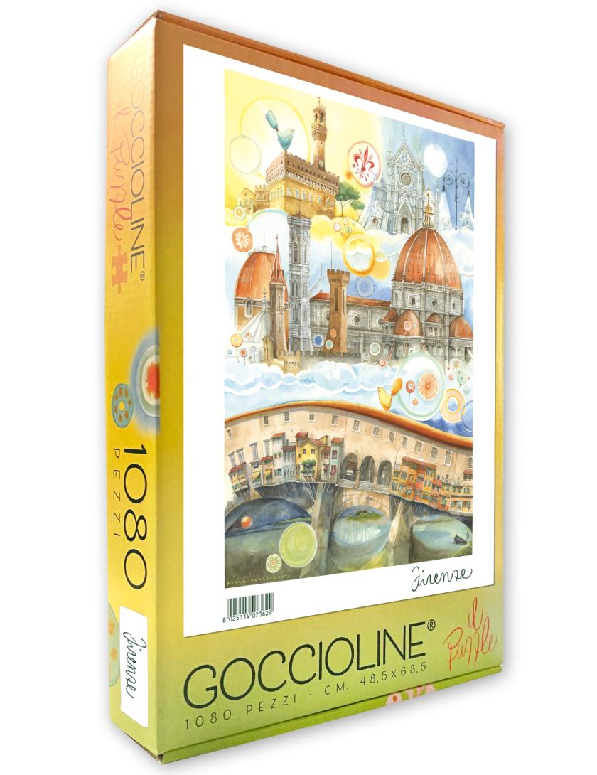 Puzzle Firenze Goccioline 1080 pezzi 50x70 cm - Dettaglio della città di Firenze