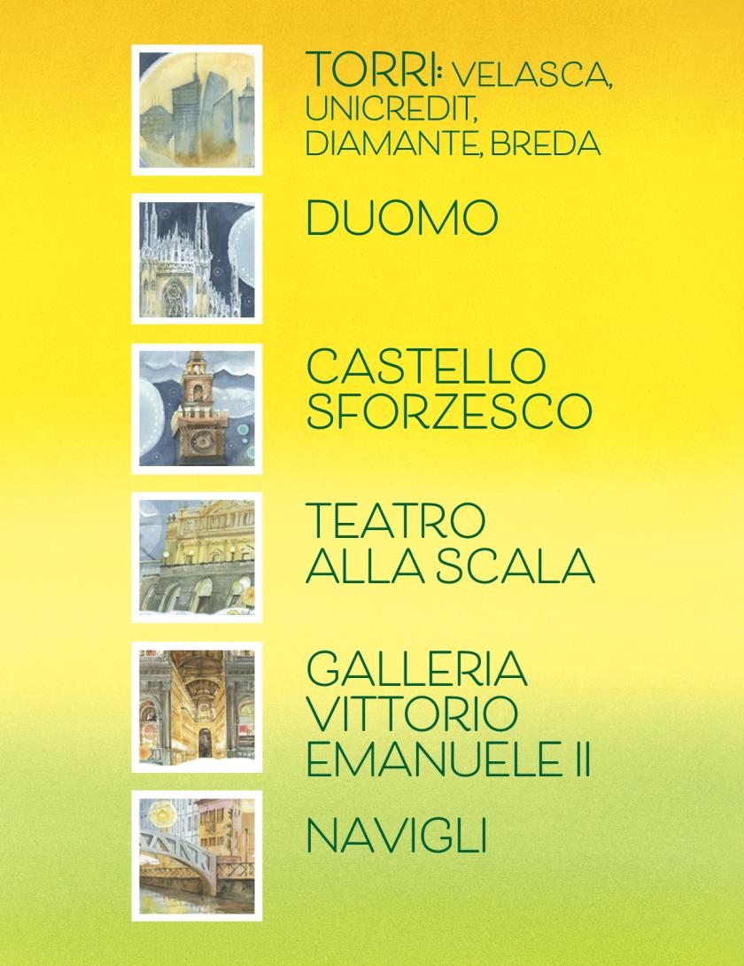 Puzzle Milano Goccioline 1080 pezzi 50x70 cm - Dettaglio della città di Milano