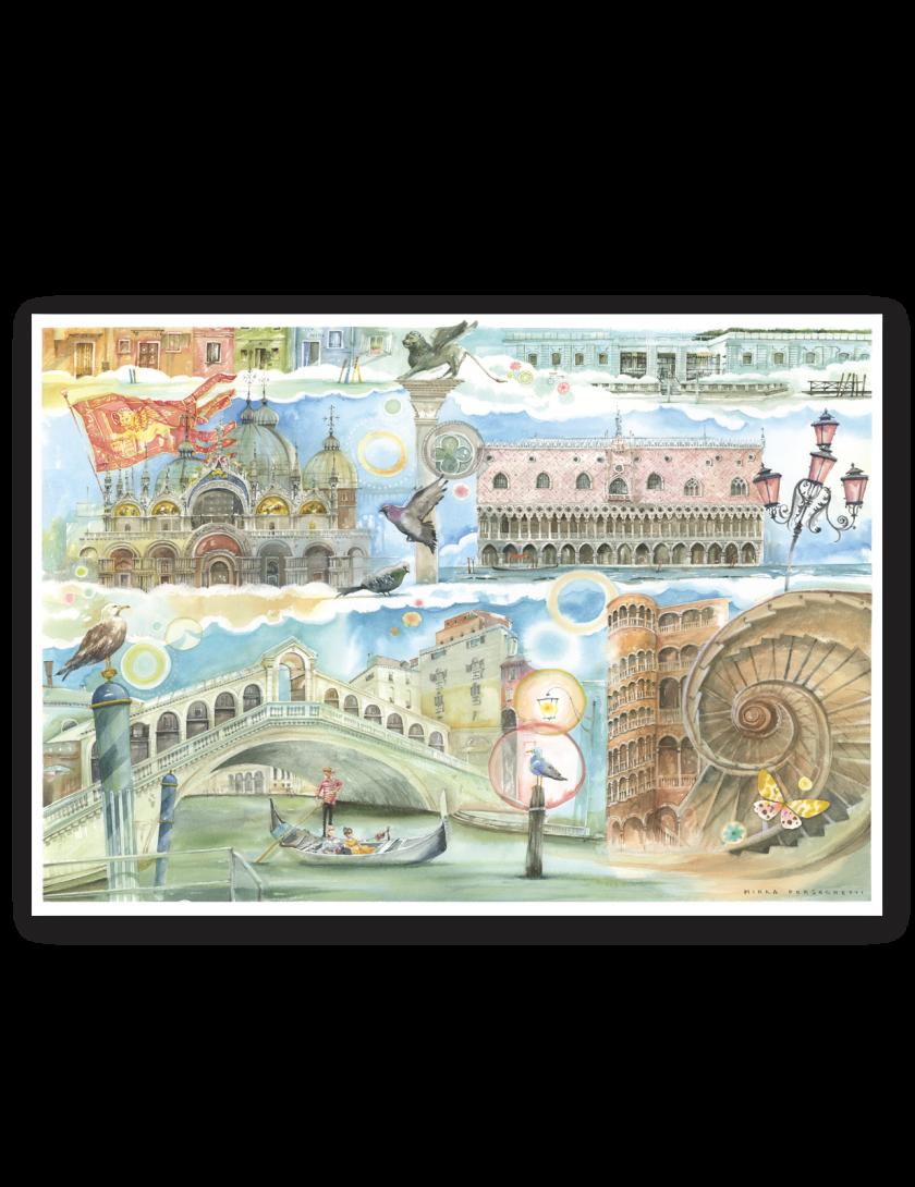 Puzzle Venezia Goccioline 1080 pezzi 50x70 cm - poster