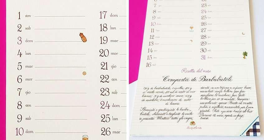 LA pagina di Ottobre del Calendario Acquolina 2020 con ricette di cucina