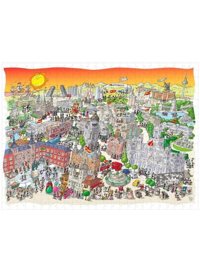 Puzzle Madrid 1080 pezzi - Le Formiche di Fabio Vettori - Akenaitaly