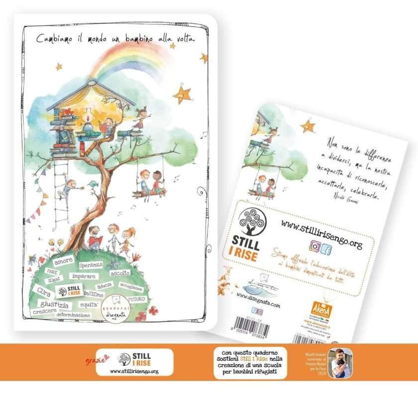 Quaderno A6 a sostegno di Still I RIse nella creazione di una scuola per bambini rifugiati