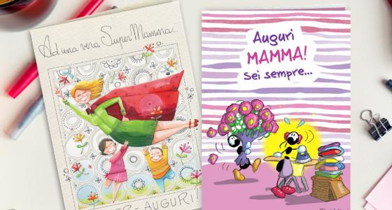 Biglietti di auguri per la Festa della Mamma illustrati