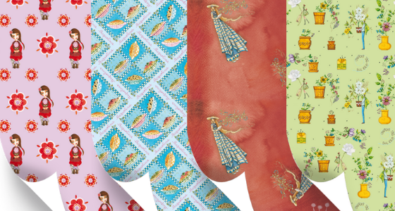 Fogli di carta illustrati per abbellire i tuo pacchi regalo