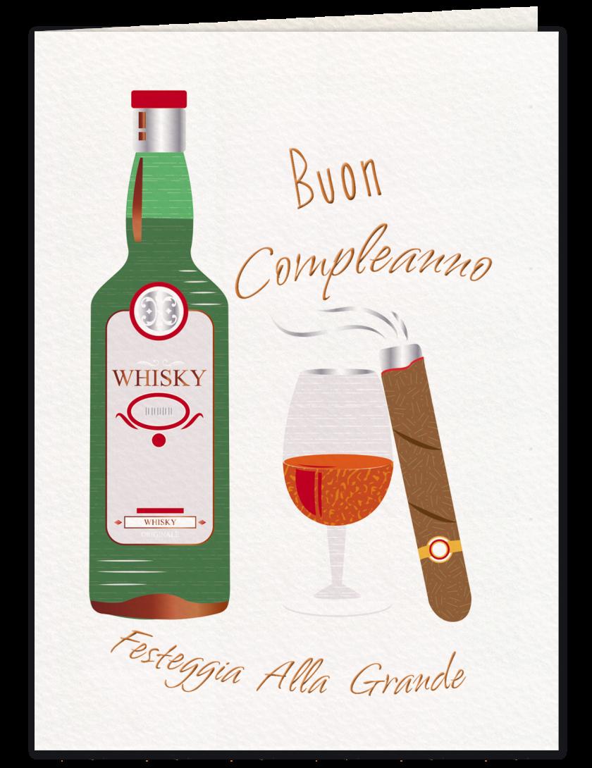 Whisky e sigaro - Biglietto di compleanno