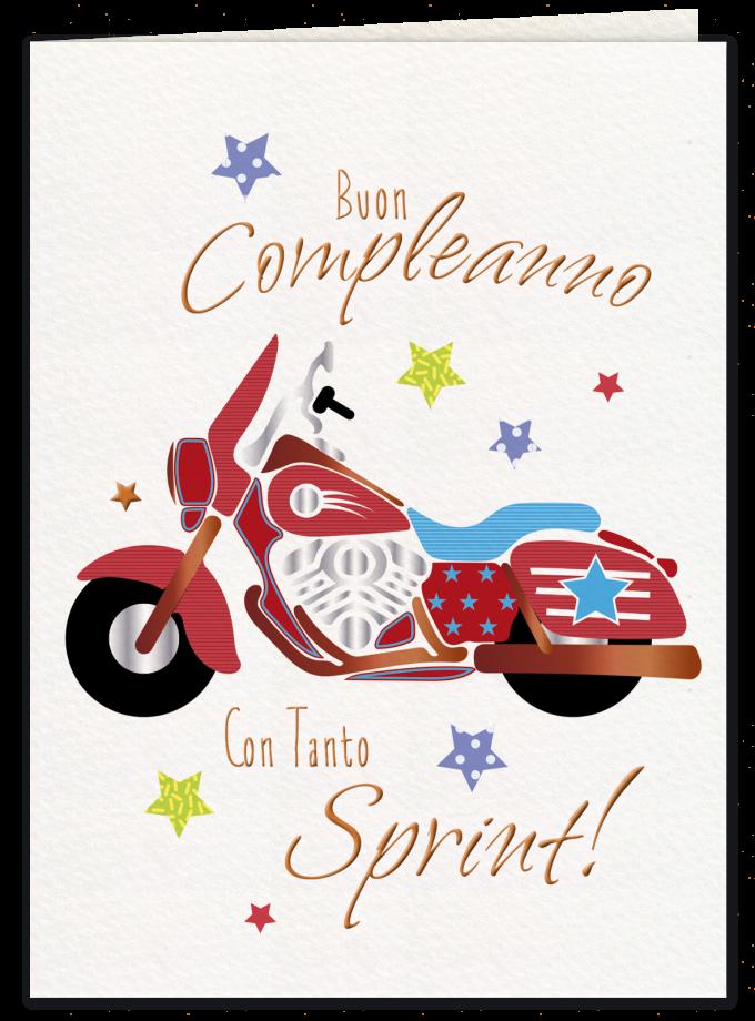 Red motorcycle - Biglietto di compleanno