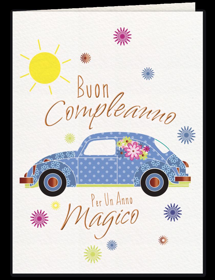 Maggiolino - Biglietto di compleanno con busta