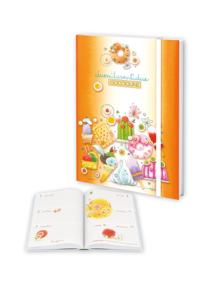Agenda settimanale Goccioline 2022 Arancione - Copertina