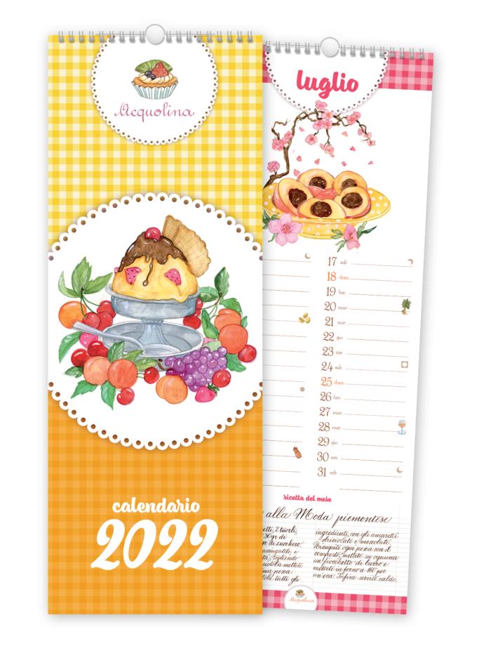 Calendario da parete con ricette Acquolina 2022 - Copertina