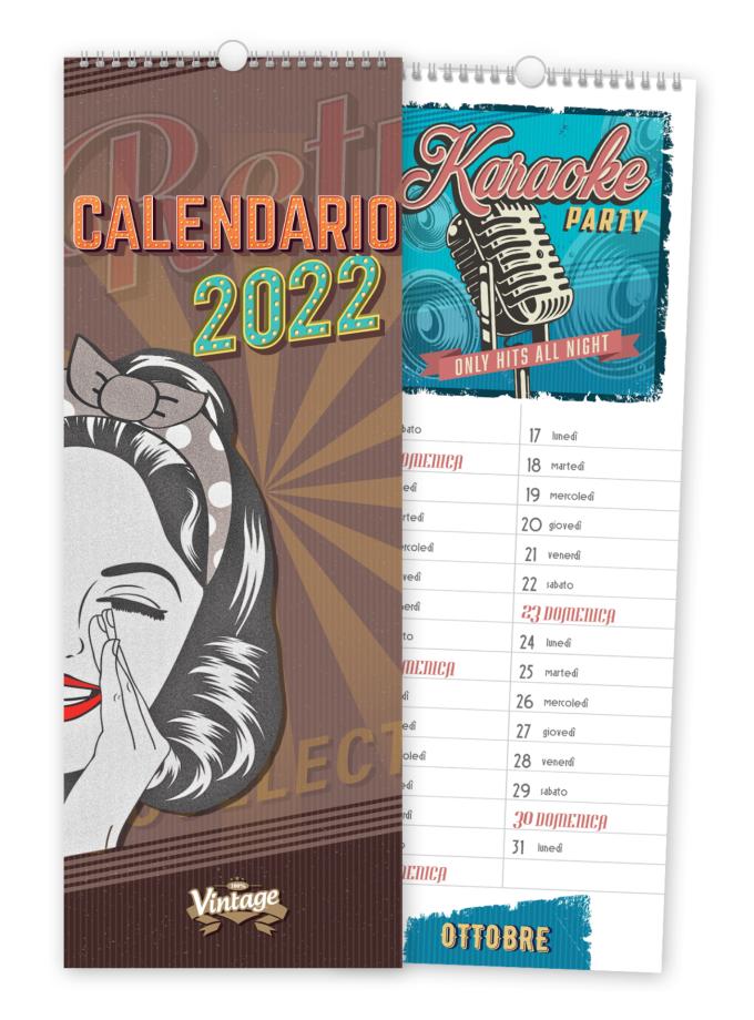 Calendario da parete Vintage 2022 - Copertina