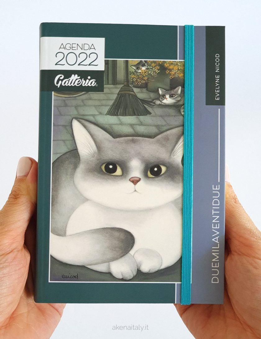 Agenda giornaliera Gatteria 2022 con copertina grigio