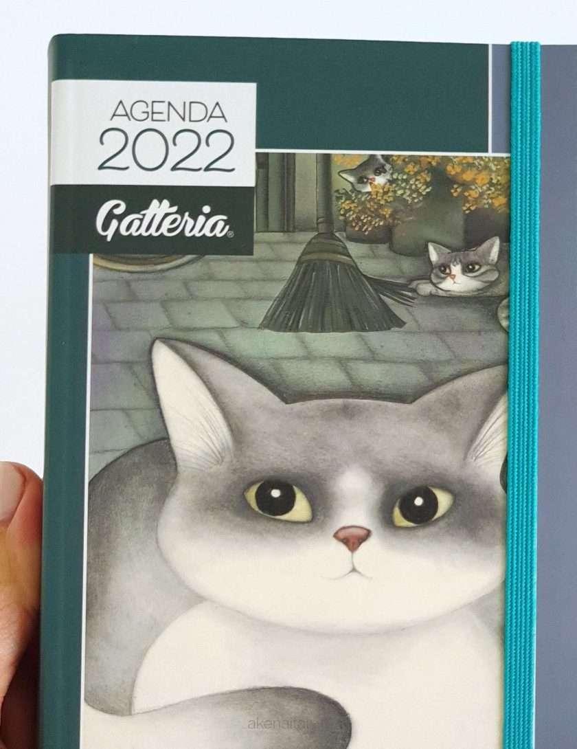 Agenda gatti 2022 giornaliera con copertina grigio - Gatteria