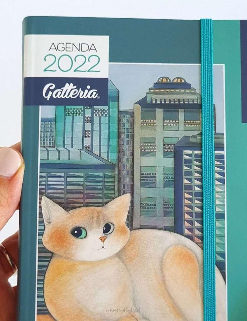 Agenda gatti 2022 giornaliera con copertina verde - Gatteria
