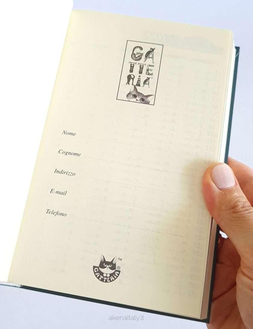 Agenda gatti 2022 pagina dati personali - Gatteria