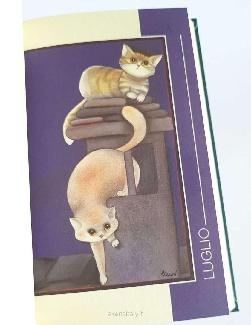 Agenda giornaliera 2022 Gatteria illustrazioni gatti