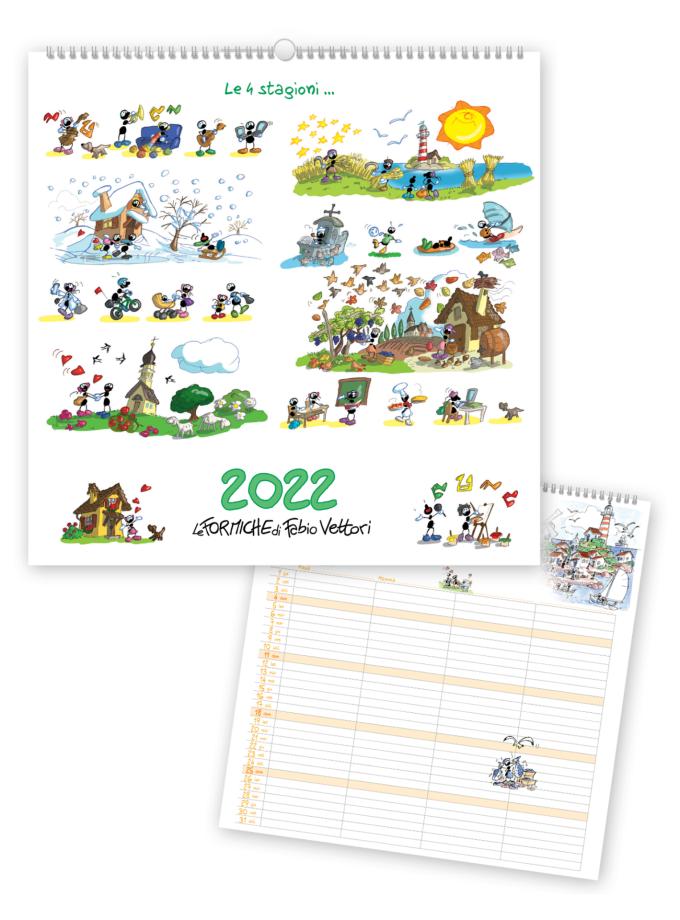 Calendario familiare Le Formiche di Fabio Vettori 2022 - Copertina