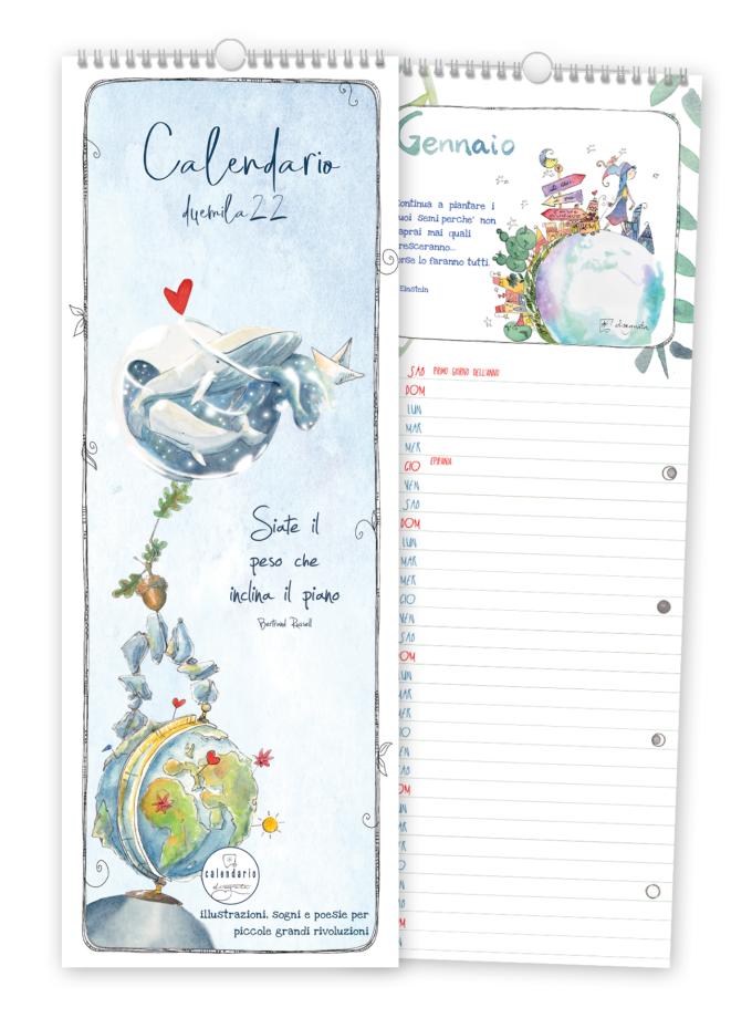Calendario 2022 con aforismi Disegnata - Copertina