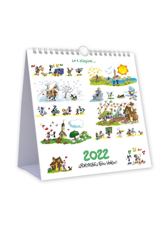 Calendario da tavolo Le Formiche di Fabio Vettori 2022 - Copertina