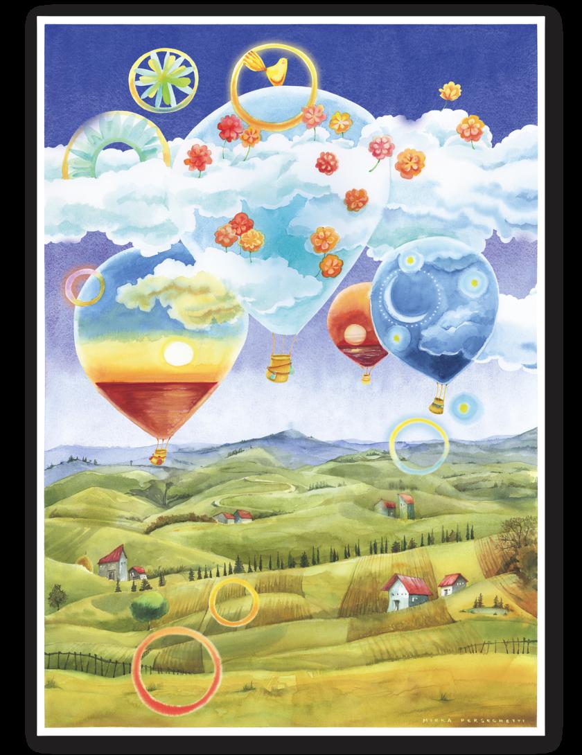 Puzzle Goccioline Mongolfiere tra le nuvole 1080 pezzi 50x70 cm