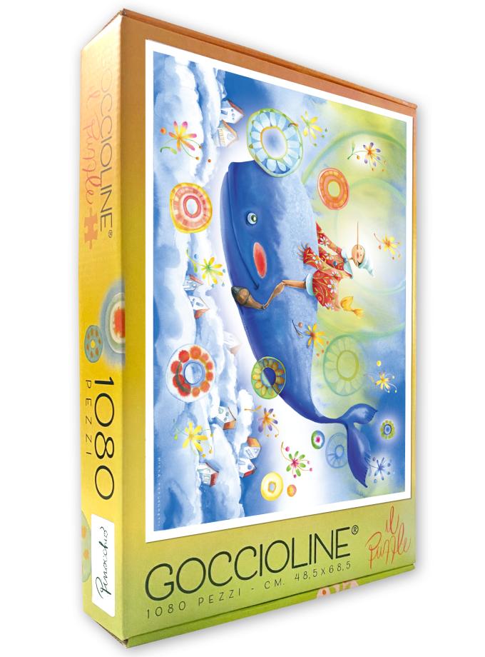Puzzle Goccioline Pinocchio e la balena 1080 pezzi 50x70 cm - Confezione