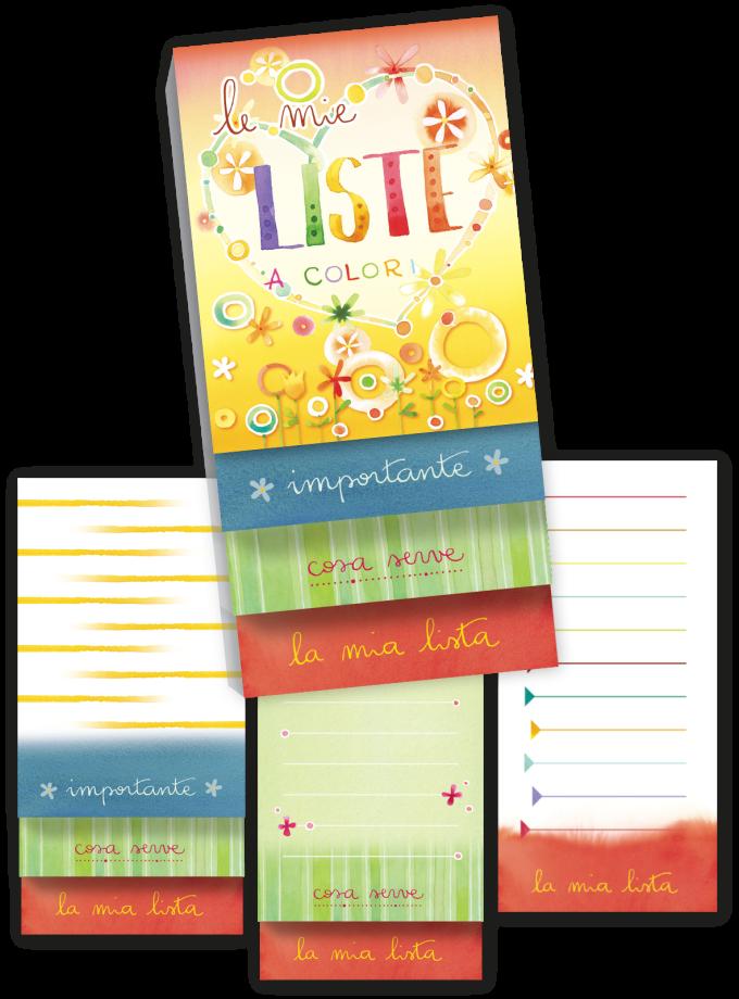 Blocchetto per liste to-do Goccioline - Le mi liste a colori