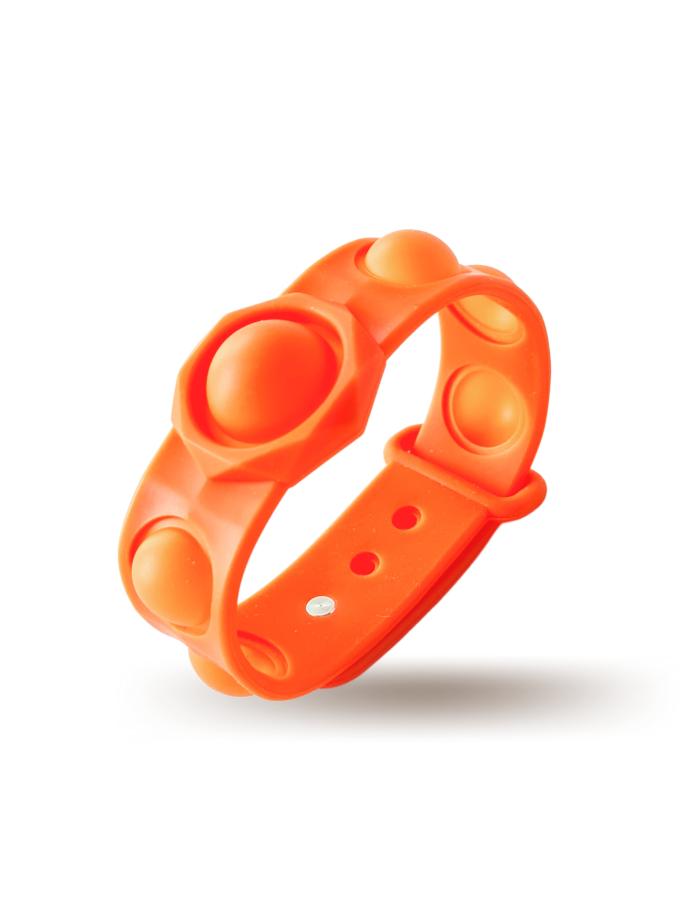 Braccialetto Pop It Arancione in silicone - misura grande