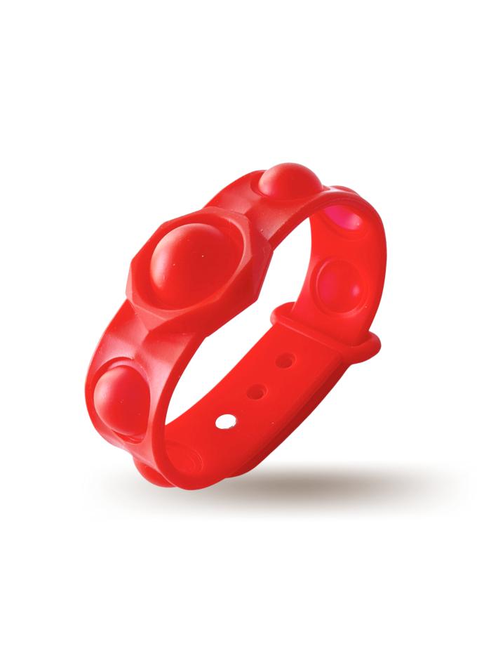 Braccialetto Pop It Rosso in silicone - misura grande